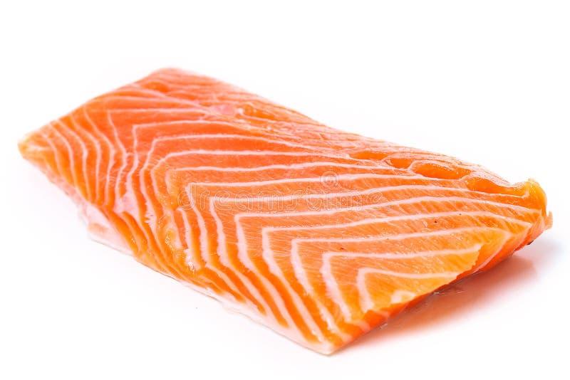 Rebanada de salmones sin procesar foto de archivo libre de regalías
