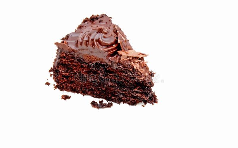 Rebanada de torta de chocolate foto de archivo