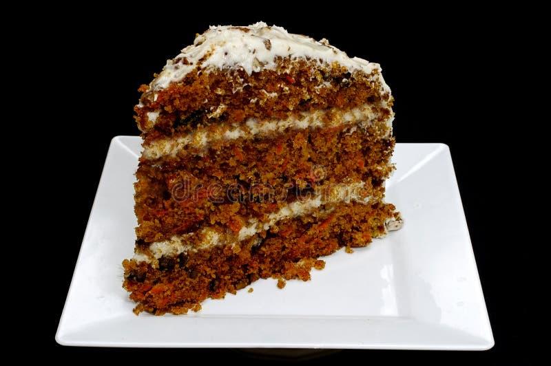 Rebanada de torta de zanahoria fotografía de archivo libre de regalías