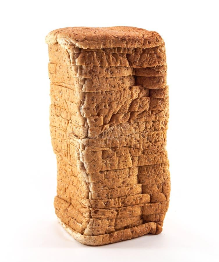 Rebanada del pan de aislado imagenes de archivo