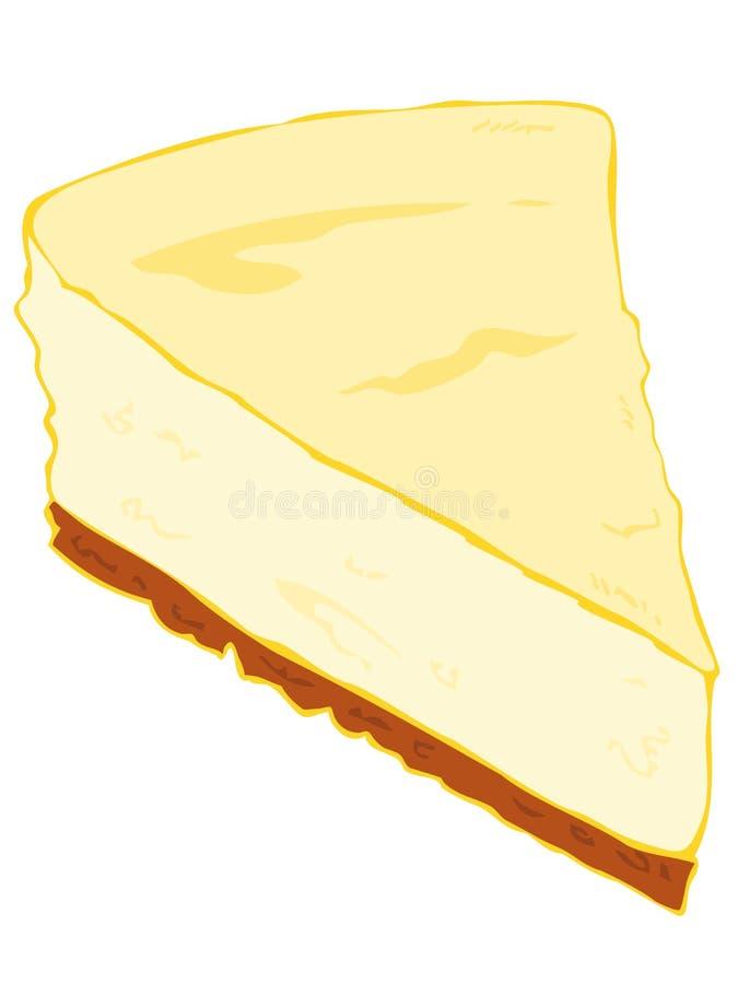 Rebanada del pastel de queso. stock de ilustración