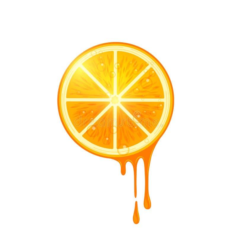 Rebanada jugosa de la naranja del vector libre illustration