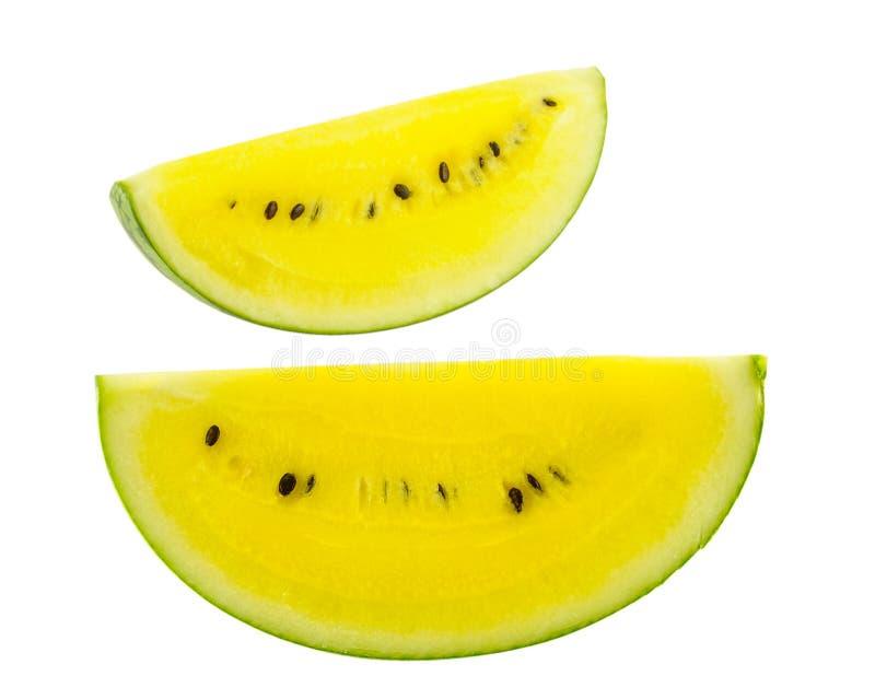 Rebanada madura y jugosa del melón de agua imágenes de archivo libres de regalías