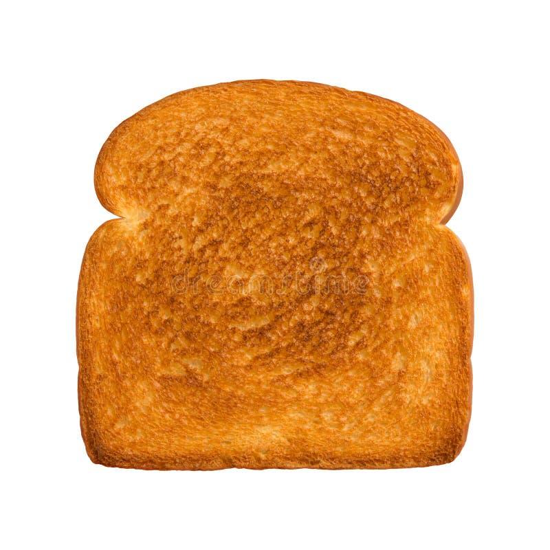Rebanada tostada de pan blanco fotos de archivo