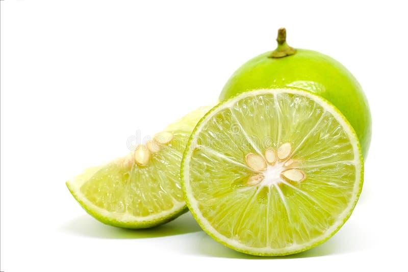 Rebanada verde de la fruta de la cal foto de archivo libre de regalías