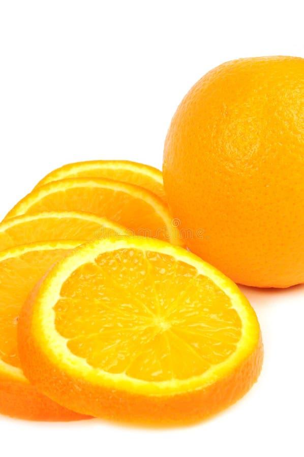 Rebanadas anaranjadas foto de archivo