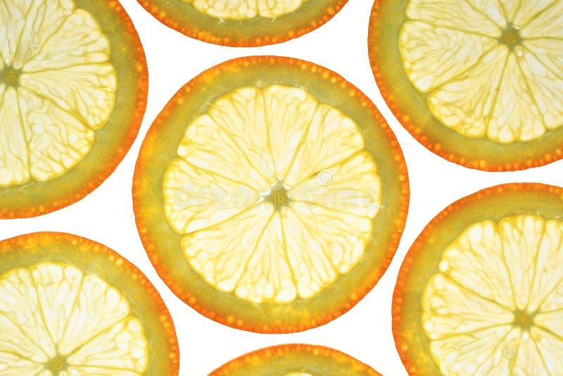 Rebanadas anaranjadas imagen de archivo