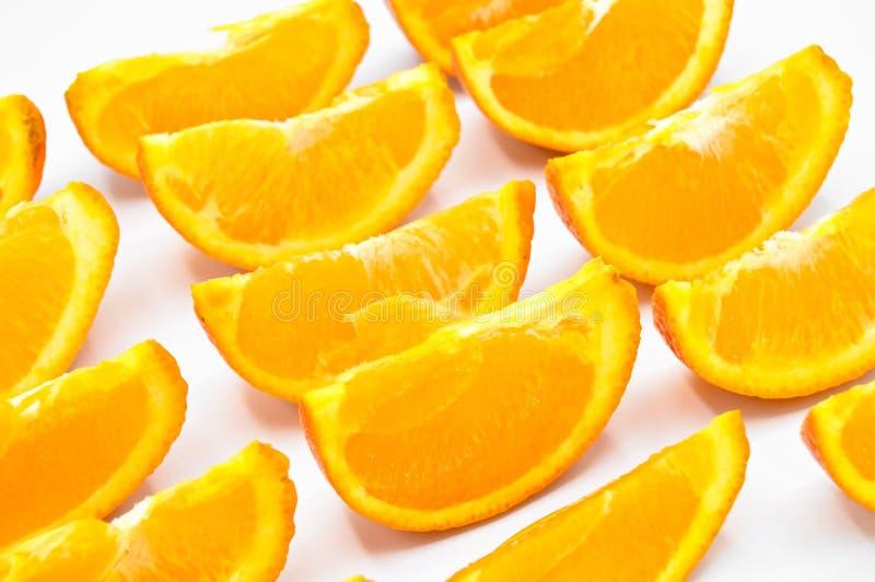 Rebanadas anaranjadas cortadas frescas y jugosas Colecci?n, sana fotos de archivo