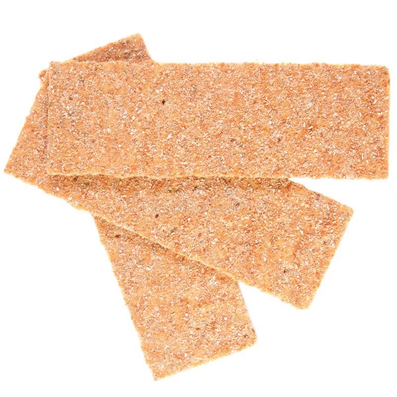 Rebanadas de biscote curruscante calórico inferior fotos de archivo libres de regalías
