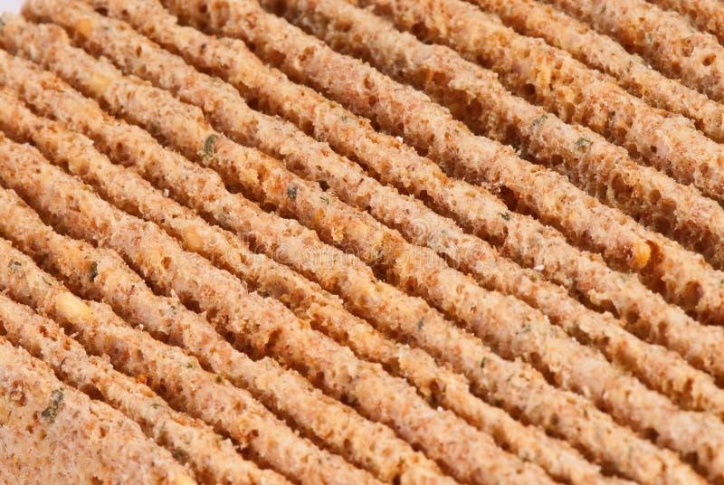 Rebanadas de biscote curruscante calórico inferior foto de archivo libre de regalías