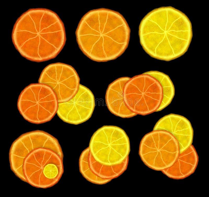 Rebanadas de frutas imágenes de archivo libres de regalías