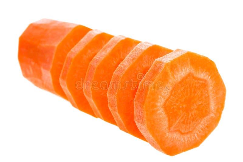 Rebanadas de la zanahoria foto de archivo libre de regalías
