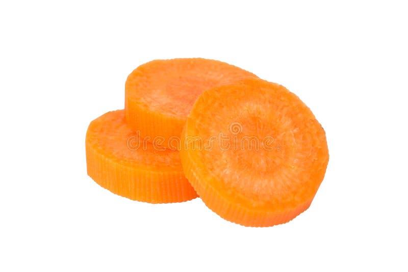 Rebanadas de la zanahoria imagen de archivo libre de regalías