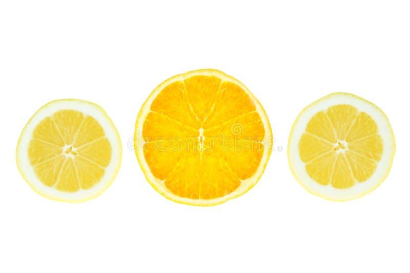 Rebanadas de naranja del limón. fotos de archivo libres de regalías