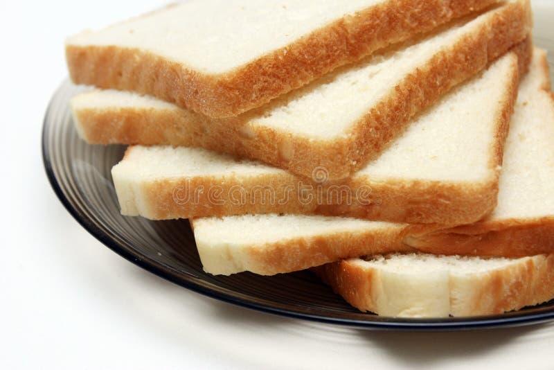 Rebanadas de pan blanco imagen de archivo libre de regalías