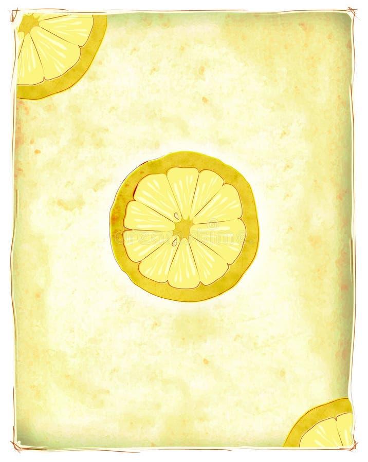 Rebanadas del limón stock de ilustración