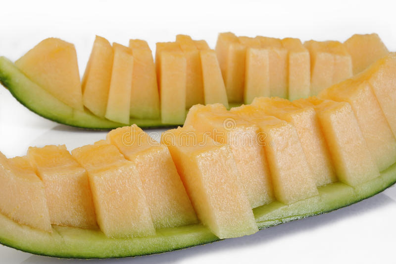 Rebanadas del melón foto de archivo