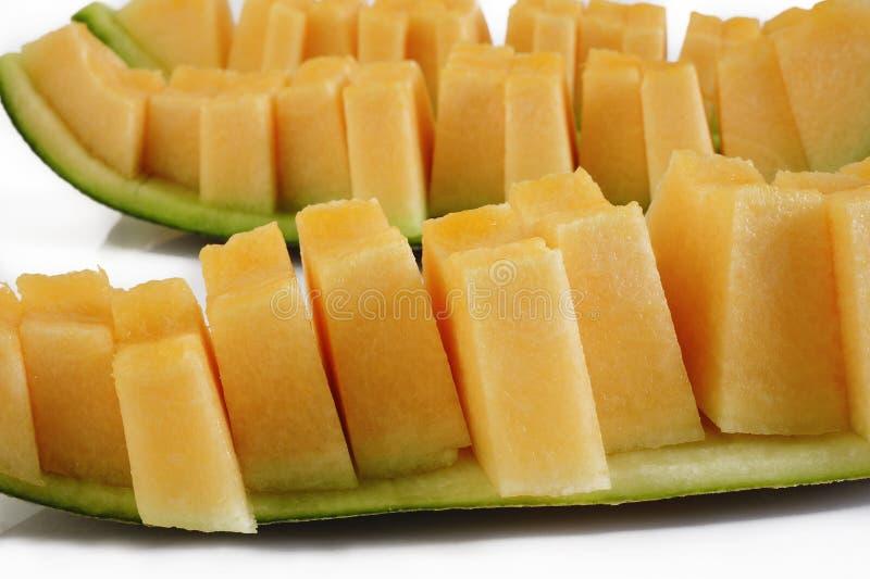 Rebanadas del melón fotografía de archivo