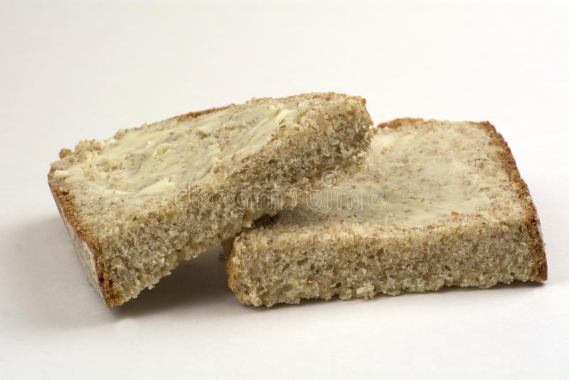 Rebanadas del pan de la soda con mantequilla foto de archivo libre de regalías