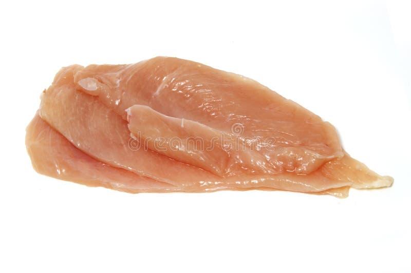 Rebanadas del pollo imagenes de archivo