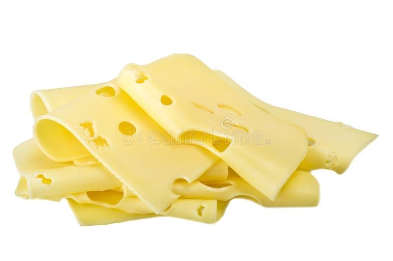 Rebanadas del queso suizo imágenes de archivo libres de regalías