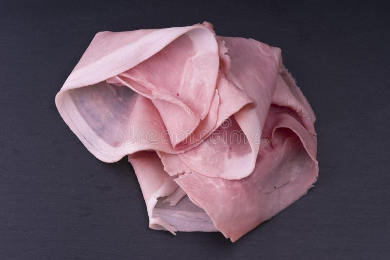 Rebanadas italianas del jamón del cerdo foto de archivo libre de regalías