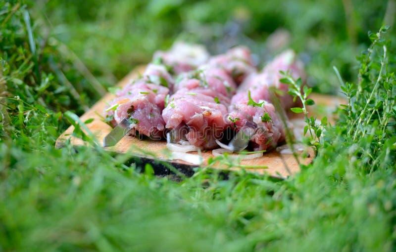 Rebanadas jugosas de carne imagen de archivo libre de regalías