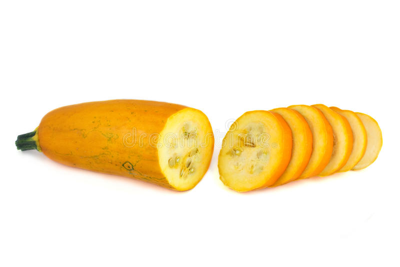 Rebanadas rebanadas calabacín amarillo del ââthin fotografía de archivo libre de regalías