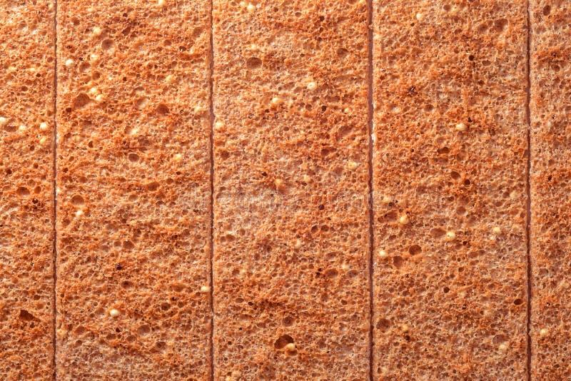 Rebanadas secas del pan imágenes de archivo libres de regalías