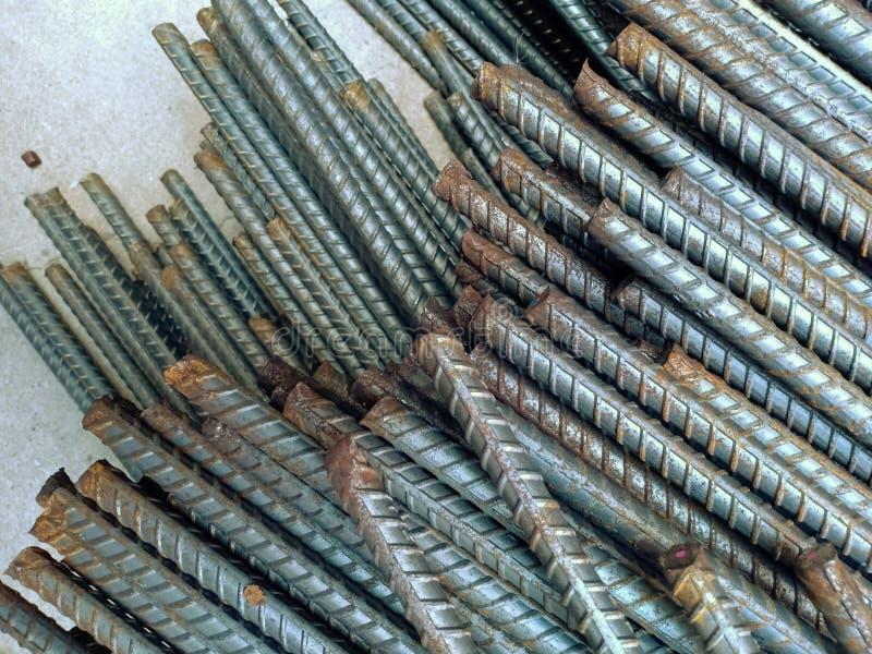 rebar de acero para el hormigón del refuerzo en el dite de la construcción fotos de archivo libres de regalías