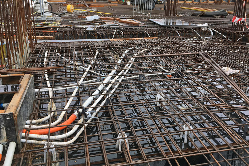 Download Rebar De Chantier De Construction Photo stock - Image du matrice, renforcé: 87704128