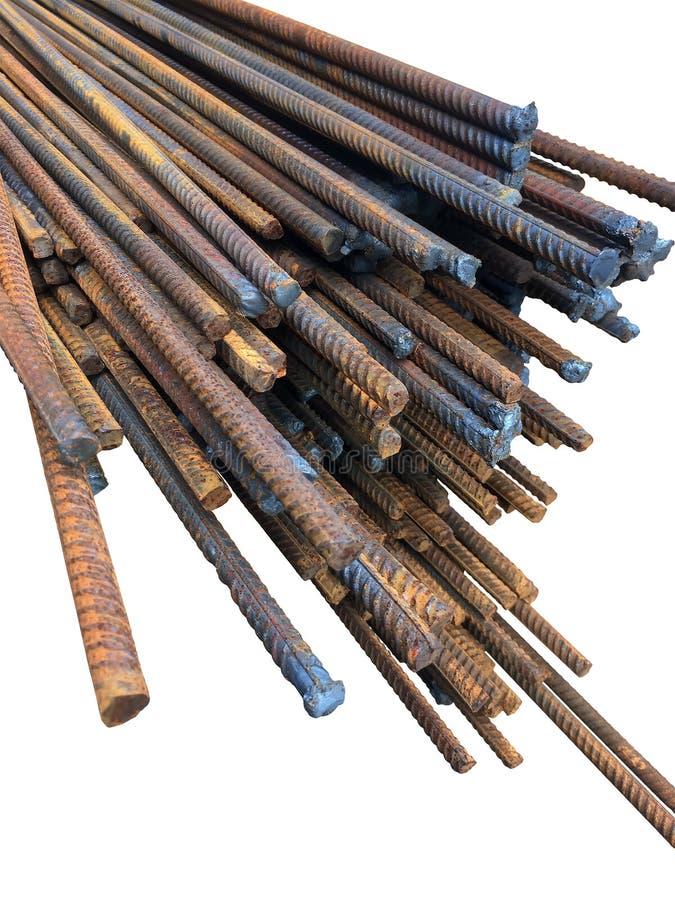 Rebar für Stahlbeton strukturiert Nahaufnahme stockbild
