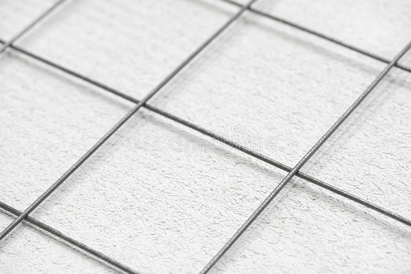 Rebargitter und -beton stockfotos