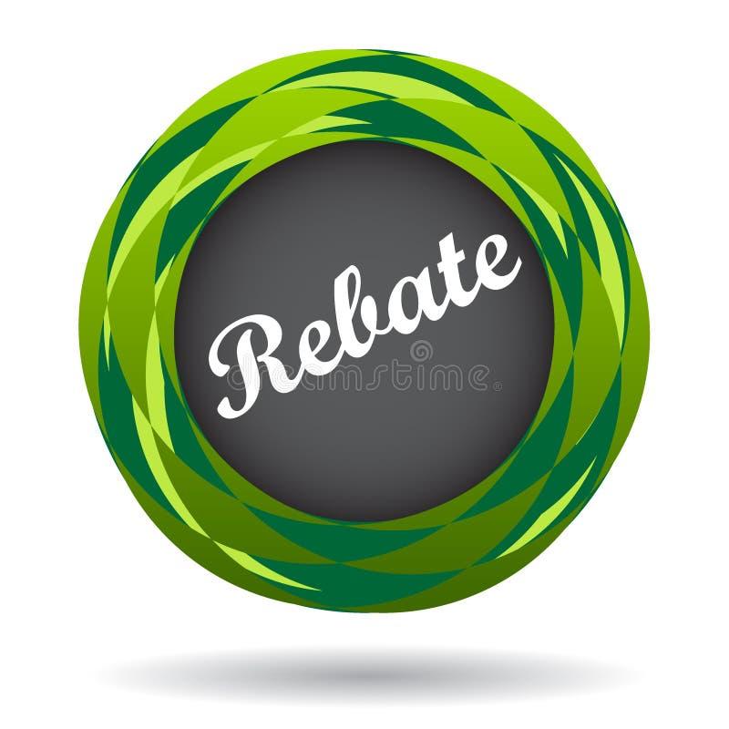 Rebate colorful icon stock illustration