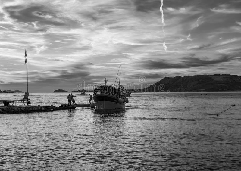 Rebecca 6 Das Meer von Kroatien lizenzfreie stockfotografie