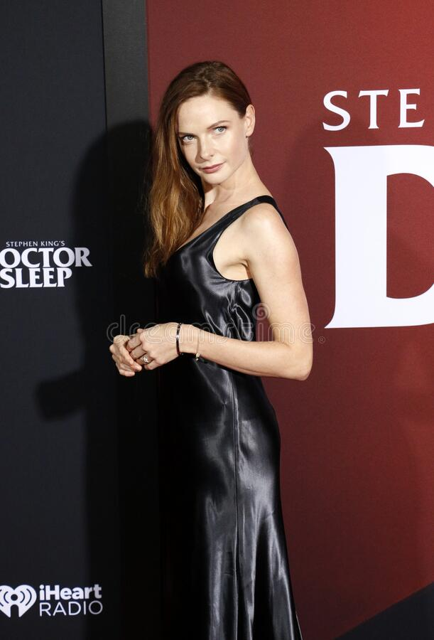 Rebecca Ferguson. At the Los Angeles premiere of `Doctor Sleep` held at the Regency Village Theater in Westwood, USA on October 29, 2019 royalty free stock photos