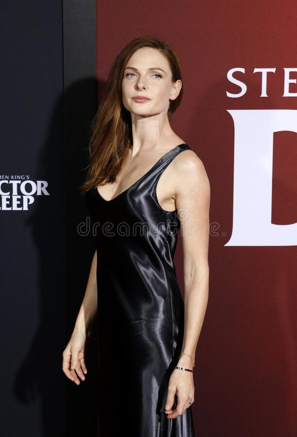 Rebecca Ferguson. At the Los Angeles premiere of `Doctor Sleep` held at the Regency Village Theater in Westwood, USA on October 29, 2019 stock photography