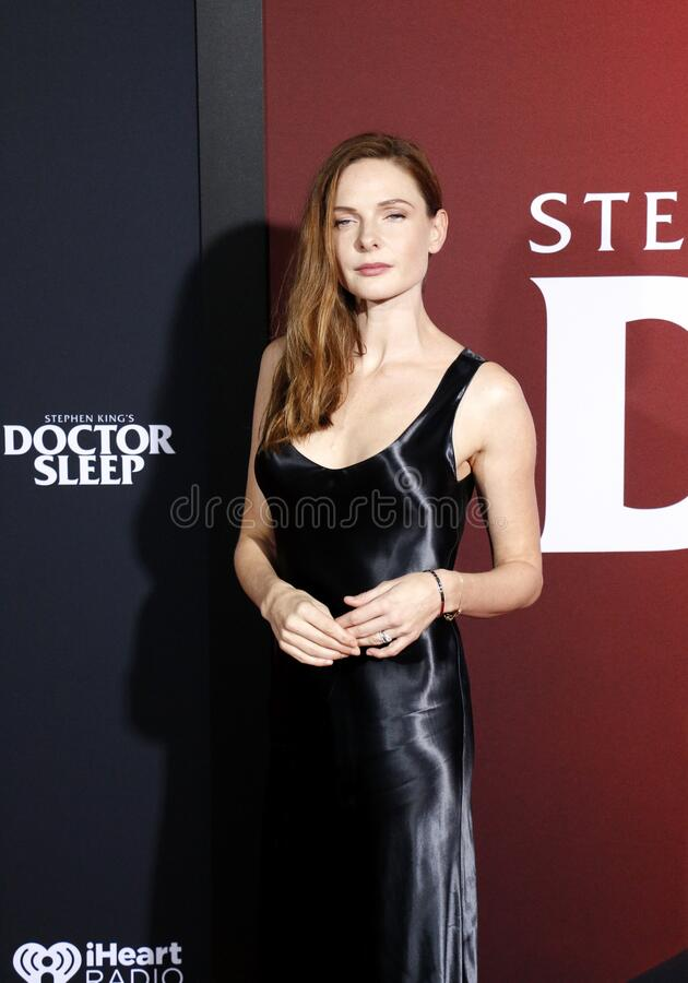 Rebecca Ferguson. At the Los Angeles premiere of `Doctor Sleep` held at the Regency Village Theater in Westwood, USA on October 29, 2019 royalty free stock image