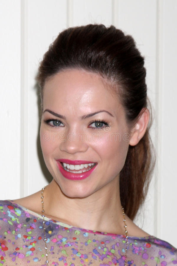 Rebecca Herbst. LOS ANGELES - JUL 21: Rebecca Herbst arrives at the 2012 General Hospital Fan Club Luncheon at Sportsman's Lodge on July 21, 2012 in Studo City royalty free stock photos