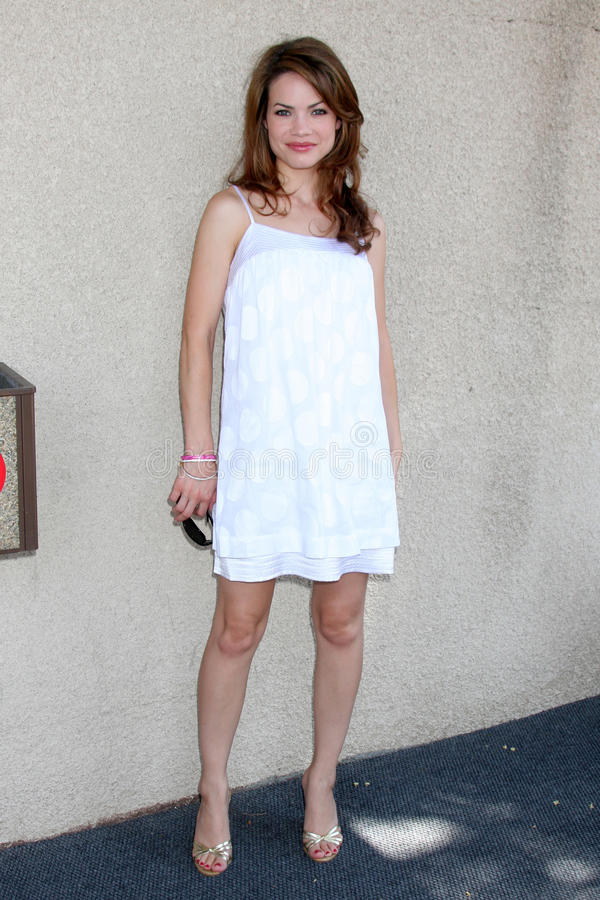 Rebecca Herbst. Arriving at the General Hospital Fan Club Luncheon at the Airtel Plaza Hotel in Van Nuys, CA on July 18, 2009 royalty free stock photo