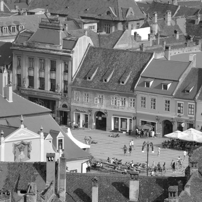 Rebecca 6 Stadtlandschaft in der Stadt Brasov Marktplatz lizenzfreie stockfotos