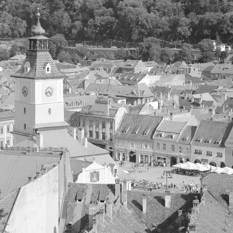 Rebecca 6 Stadtlandschaft in der Stadt Brasov Marktplatz stockbild