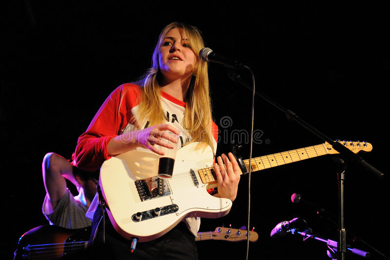Rebecca Taylor, blonde singer and guitarist of Slow Club stock image