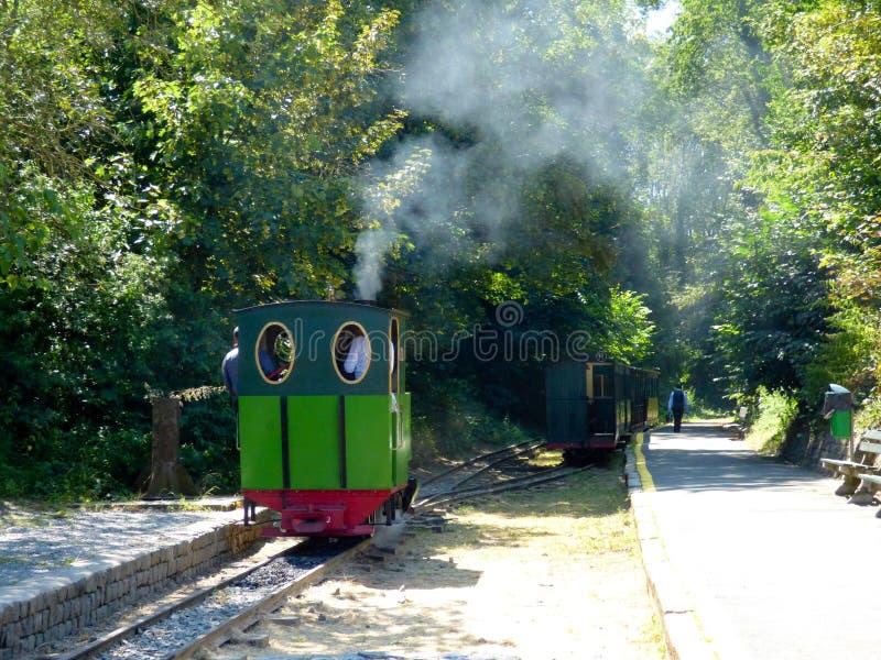 Rebecq, Belgique - 10 juillet 2018 : Train touristique de vapeur de vintage de Rebecq - Rognon, Rebecq photos stock
