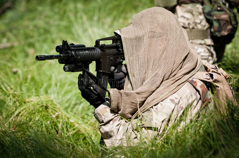 Rebel Soldier Defending His Ground Royalty Free Stock Photo