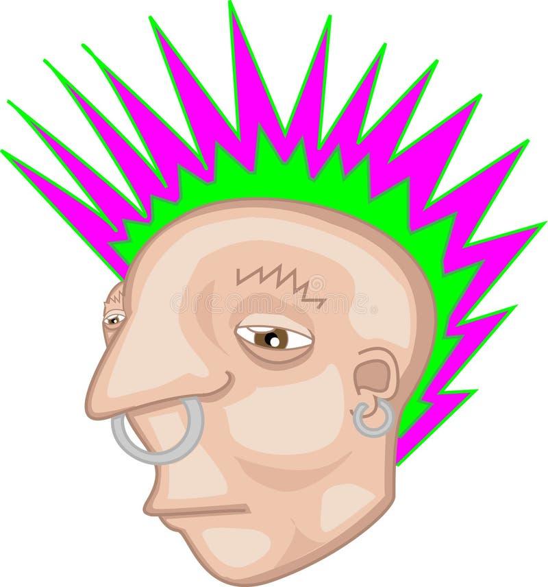Rebelde del Mohawk del punk rock ilustración del vector