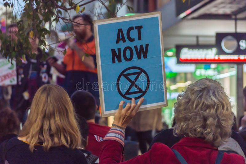 Rebelião de Rundle MallExtinction imagens de stock