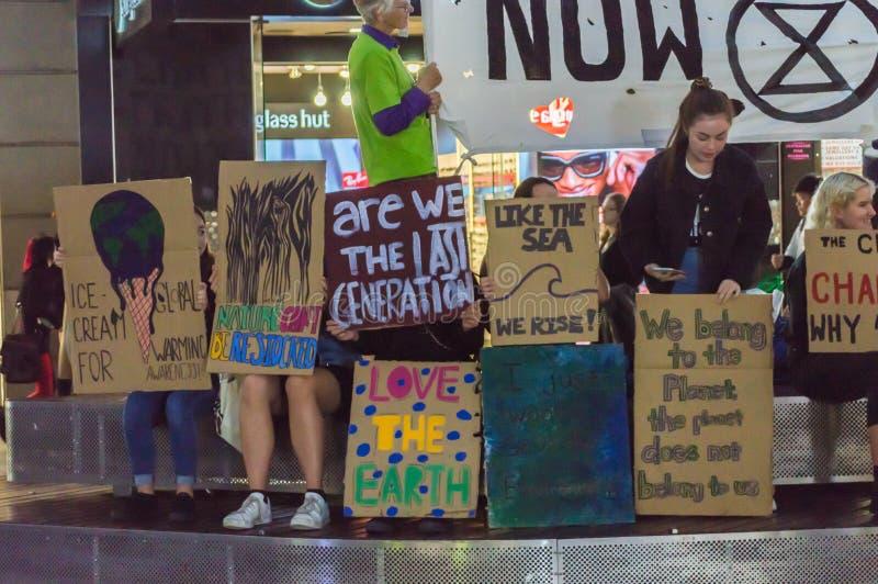 Rebelião de Rundle MallExtinction fotografia de stock