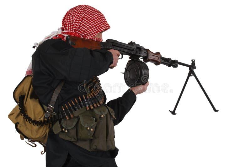 Rebell mit Maschinengewehr lizenzfreies stockfoto