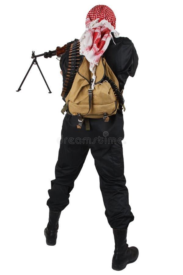 Rebell mit Maschinengewehr stockfoto